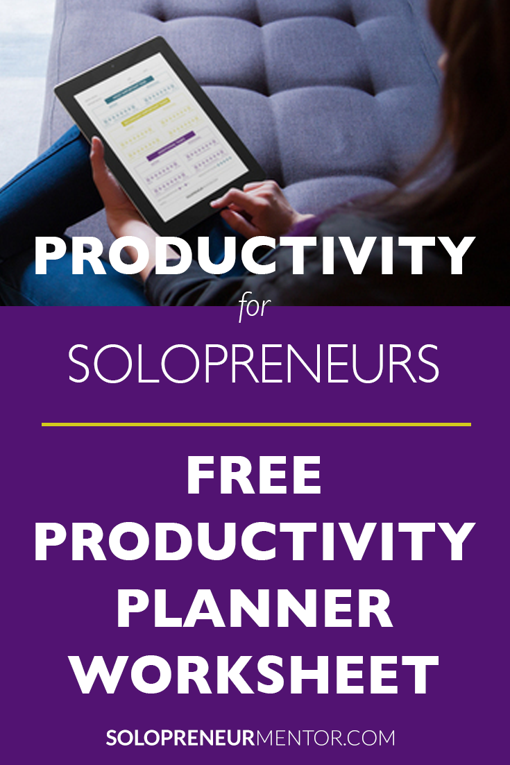 Free Productivity Planner Worksheet