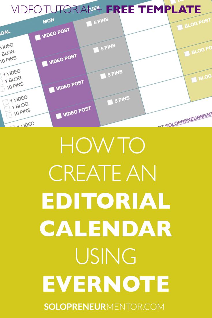 How to Create an Editorial Calendar Using Evernote