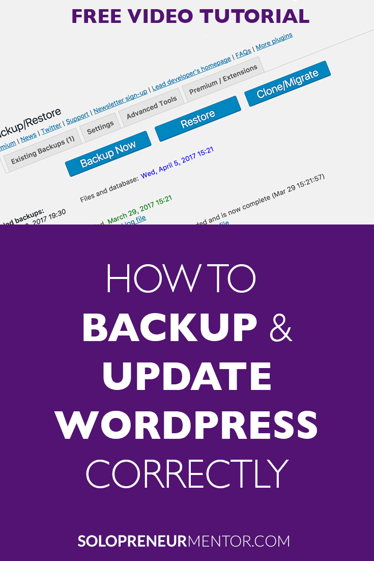 How to Backup and Update WordPress Correctly