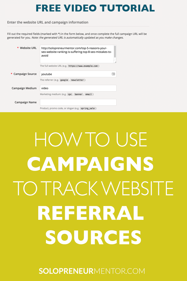 How to Use Campaigns to Track Website Referral Sources