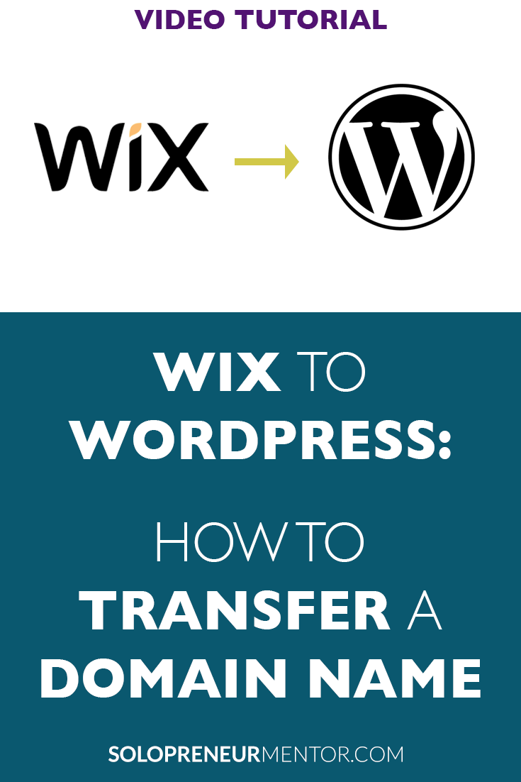 Wix to Wordpress: How to Transfer Domain Name