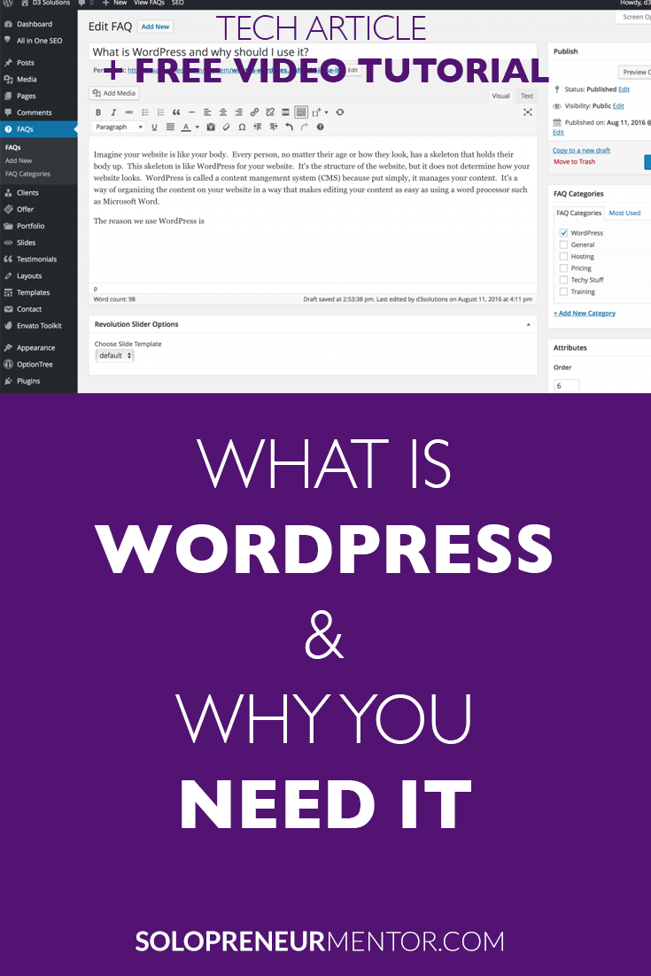 What is WordPress and Why You Need It