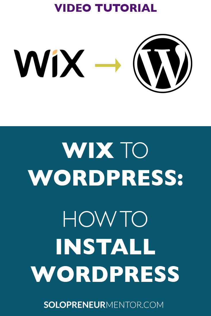 Wix to Wordpress: How to Install WordPress